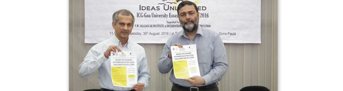 """Ideas Unleashed"" ICG-Goa University Essay Competition 2016"