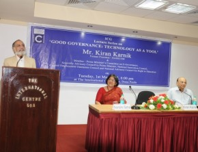 Lecture on 'Good Governance: Technology as a Tool' by Mr. Kiran Karnik