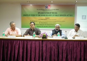 Panel Dicussion on Implementation of Goa Act 2013