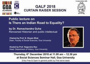 "Lecture on ""Is There an Indian Road to Equality?"" by Dr Ramachandra Guha,"
