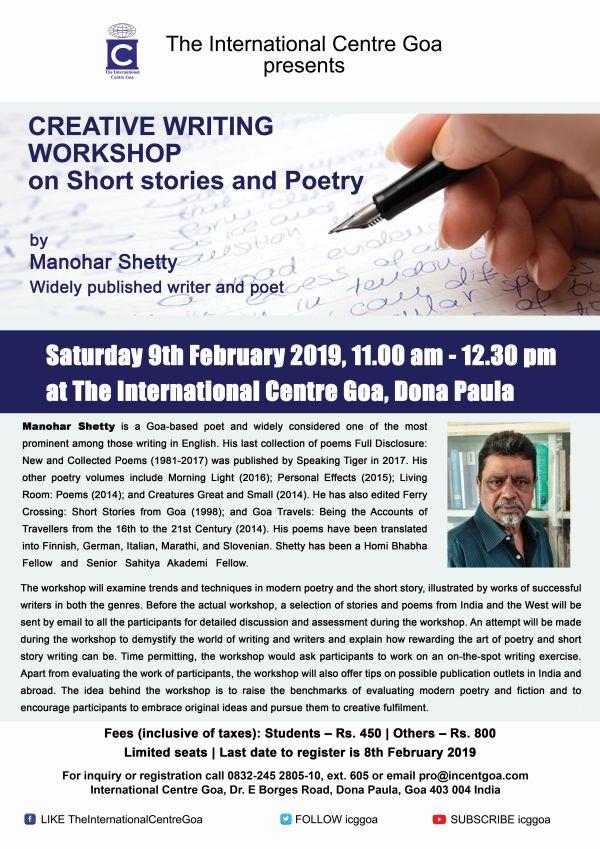 Creative Writing Workshop by Manohar Shetty