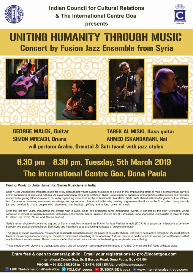 Fusing Music to Unite Humanity: Syrian Musicians in India